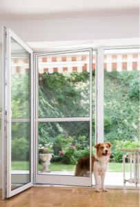 Insektenschutz Pendeltüre für Hunde